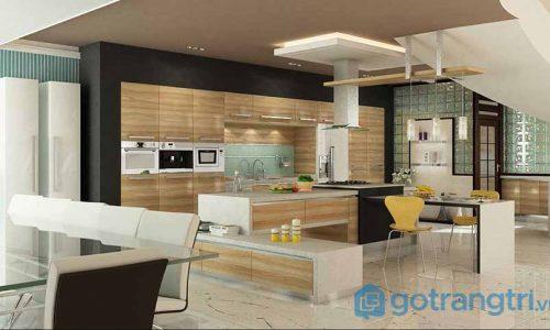 Những cách thiết kế phòng khách liền kề bếp cho ngôi nhà ống có diện tích nhỏ