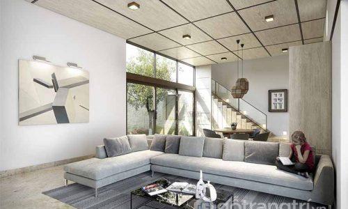 Mẫu thiết kế nội thất phòng khách 20m2 không thể bỏ qua