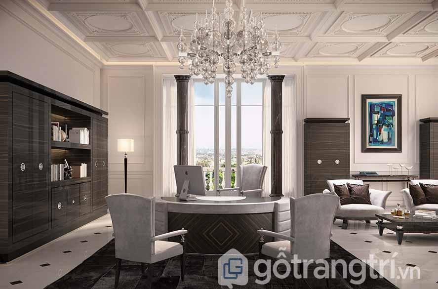 Thiết kế nội thất văn phòng hoàng gia kiểu hiện đại