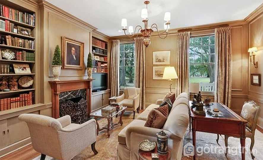 Thiết kế nội thất văn phòng hoàng gia kiểu cổ điển