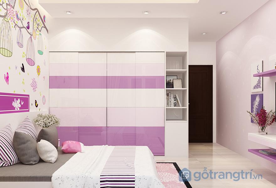 Gam màu sáng, trẻ trung là lựa chọn hàng đầu cho phòng ngủ theo phong cách đương đại