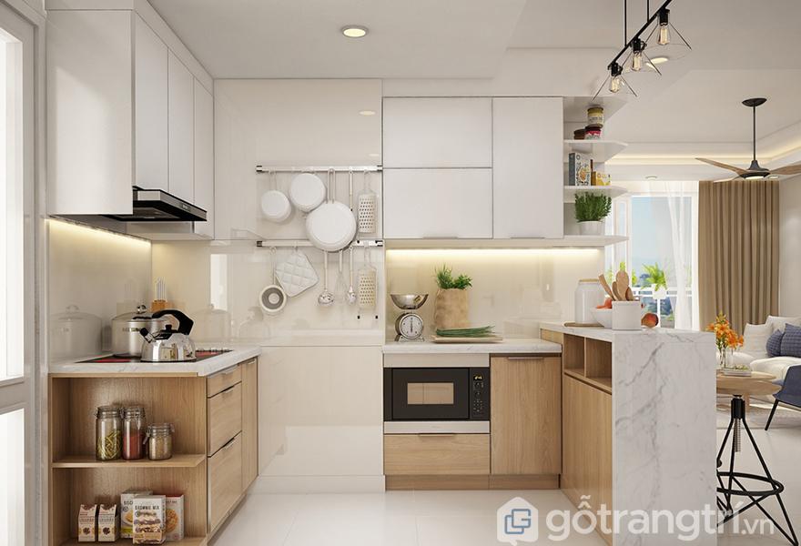 Mẫu thiết kế bếp được ưa chuộng trong các căn hộ hiện đại