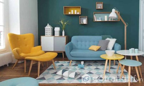 Biến hóa nội thất phòng khách với phong cách Retro hoài cổ