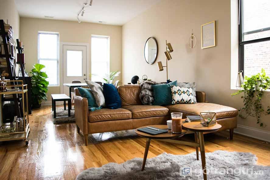 Thiết kế nội thất phòng khách phong cách Retro