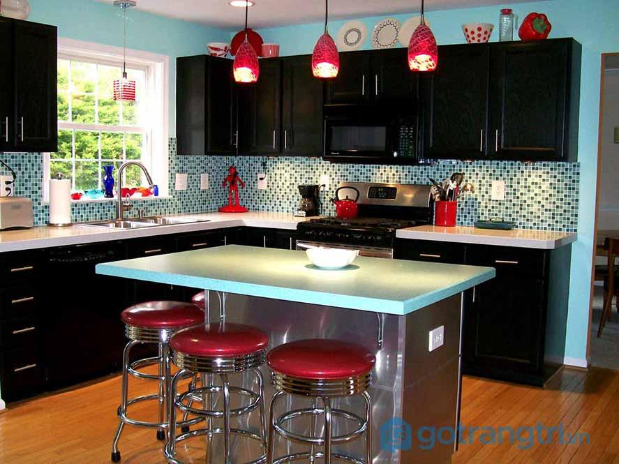 Thiết kế nội thất phòng bếp phong cách Retro
