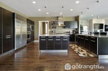 15 mẫu sàn gỗ công nghiệp tỏa sáng căn bếp gia đình - Phần 1