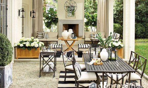 Đổi mới phòng ăn với bộ thảm kẻ sọc đen trắng tuyệt đẹp