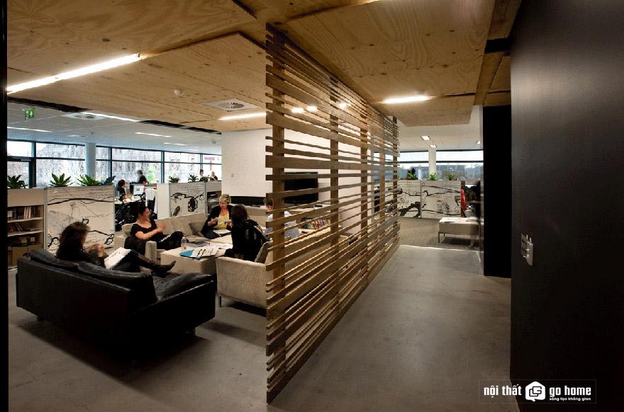 Phân chia không gian văn phòng với vách ngăn