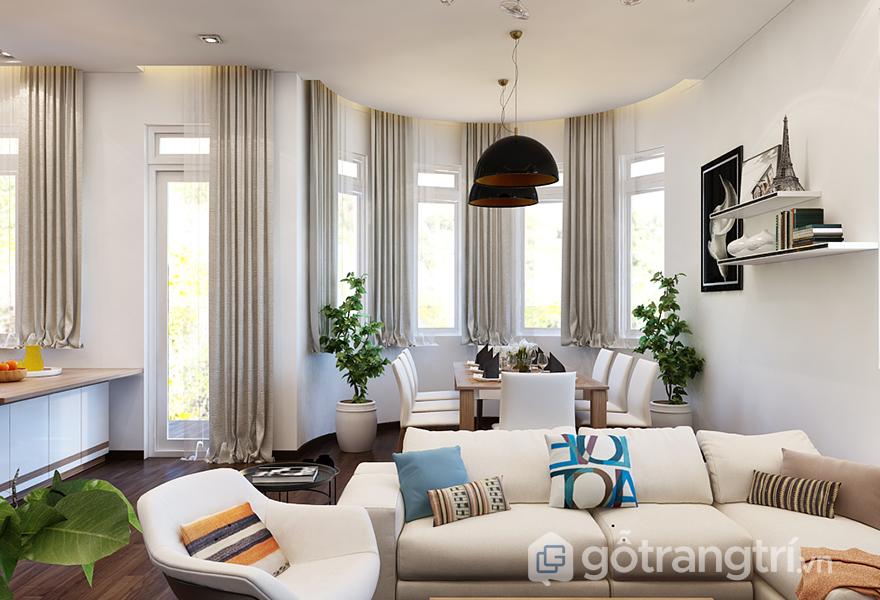 Bộ sofa góc giúp tiết kiệm diện tích cho không gian
