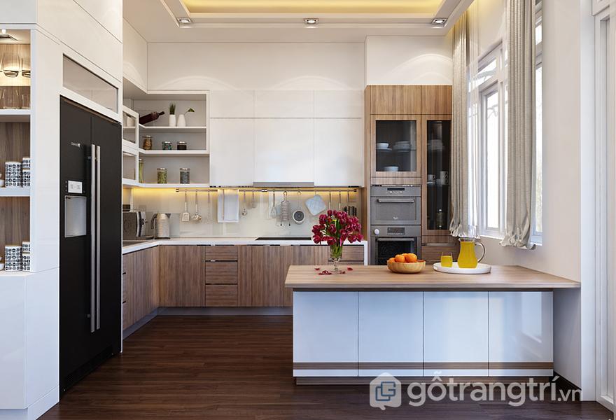 Thiết kế đảo bếp gia tăng sự tiện nghi cho khu vực nấu nướng