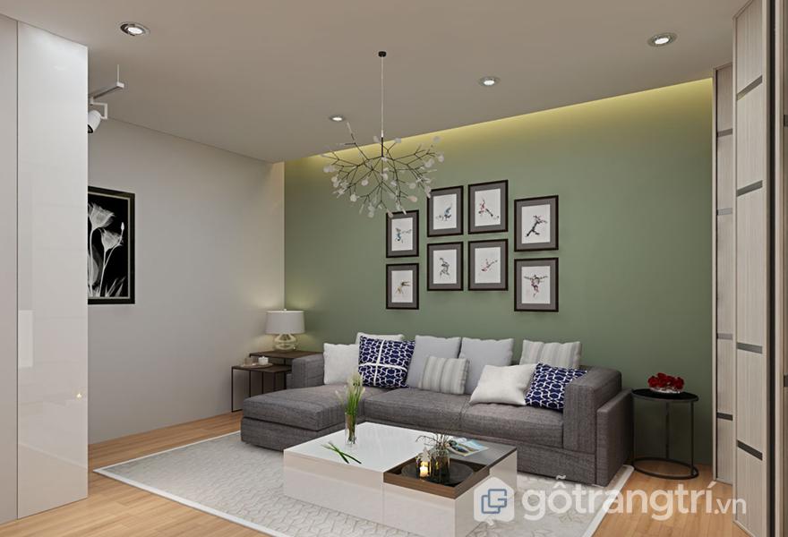 Phòng đọc được thiết kế thêm khu vực như 1 phòng khách thực thụ