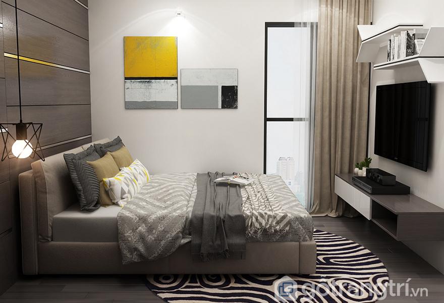 Mẫu giường ngủ được thiết kế đơn giản, thích hợp với lứa tuổi 30