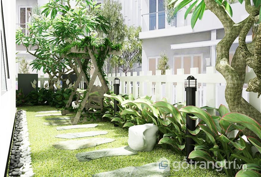 Thiết kế khu vườn bao xung quanh trong căn hộ hiện đại