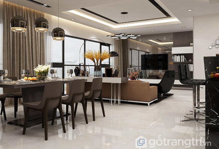 Màu nâu chủ đạo trong thiết kế căn hộ cho gia chủ trên 30 tuổi