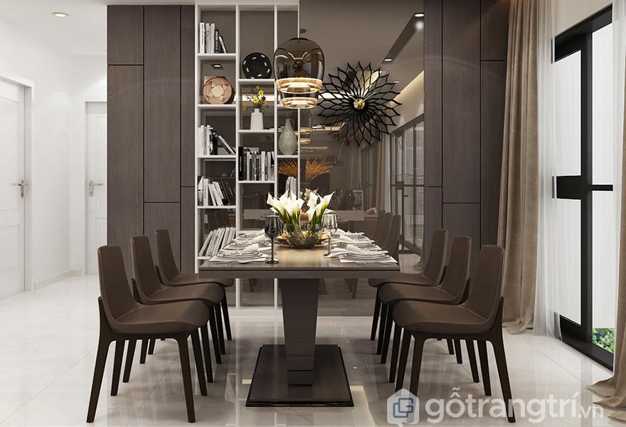Bộ bàn ăn trong thiết kế căn hộ