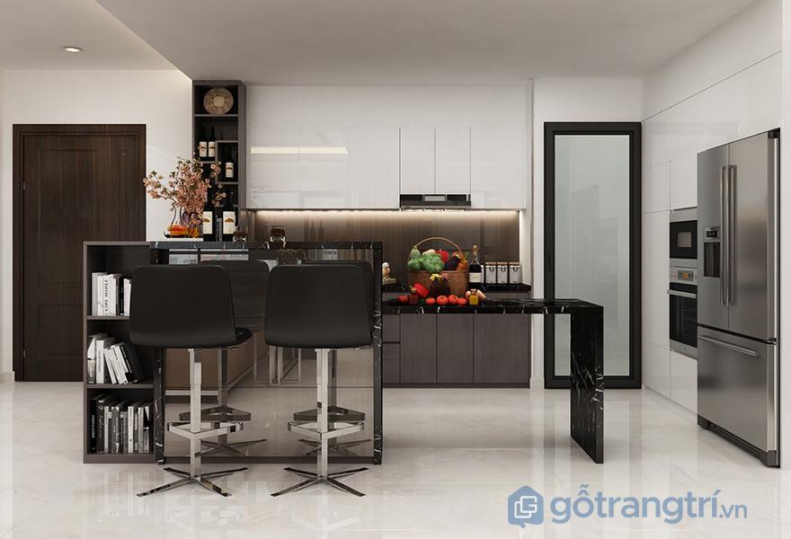 Thiết kế căn bếp tiện nghi