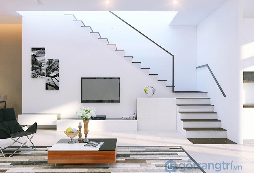 Cầu thang có vẻ đẹp tinh tế, nhẹ nhàng