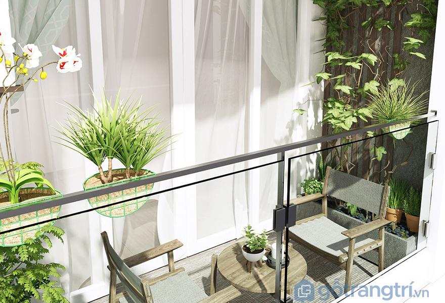 Logia là nơi kết nối không gian bên trong và bên ngoài căn hộ