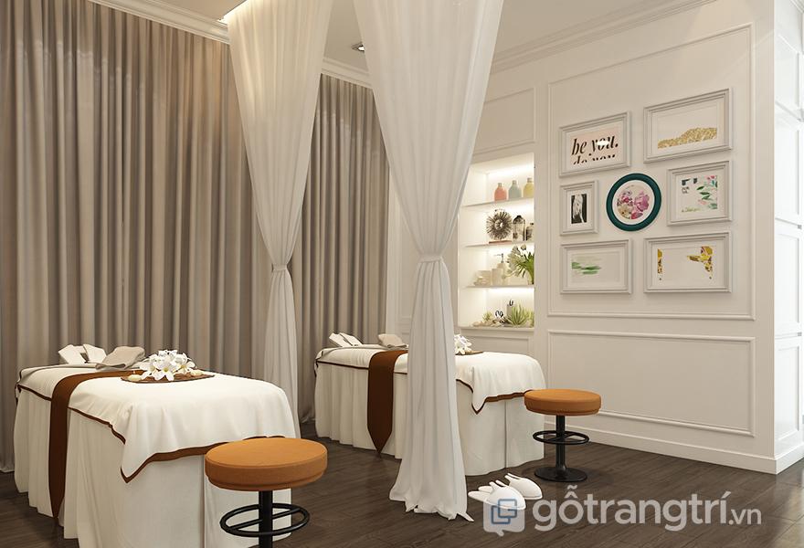 Khung trang treo tường tô điểm thêm nét đẹp nhẹ nhàng cho spa