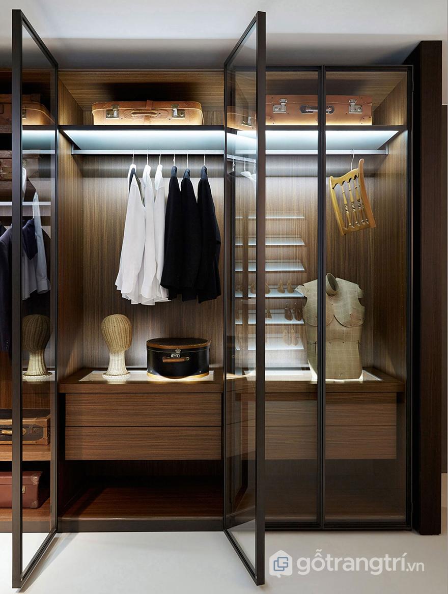 Bạn có thể sử dụng cửa kính cho chiếc tủ áo của mình