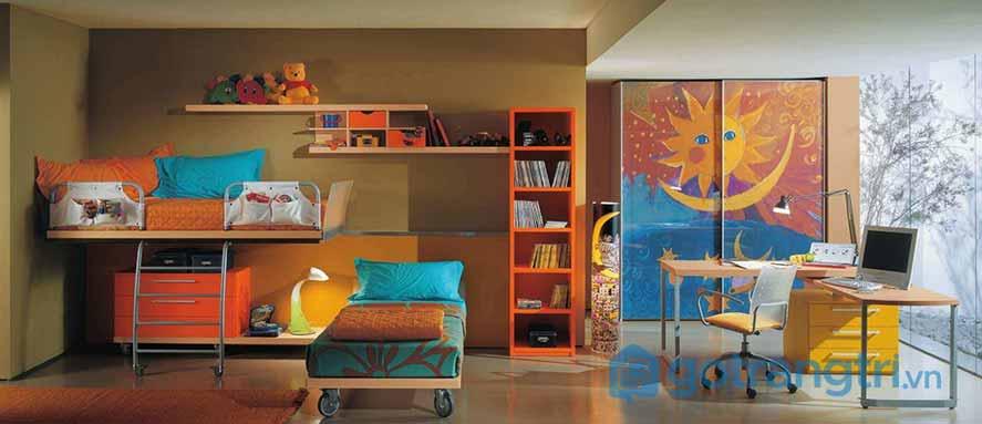 Thiết kế nội thất phòng ngủ trẻ nhỏ