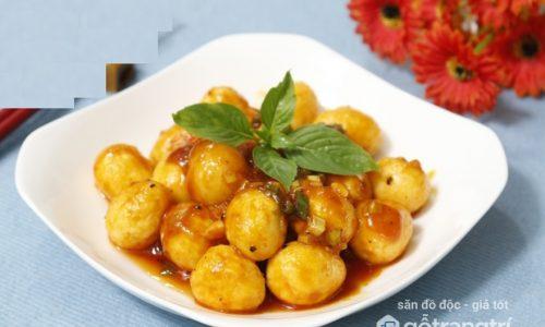 Cách làm trứng cút sốt chua ngọt đậm đà, thơm nức mũi