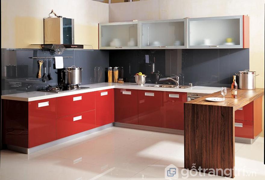 Tủ bếp được thiết kế cho căn hộ chung cư