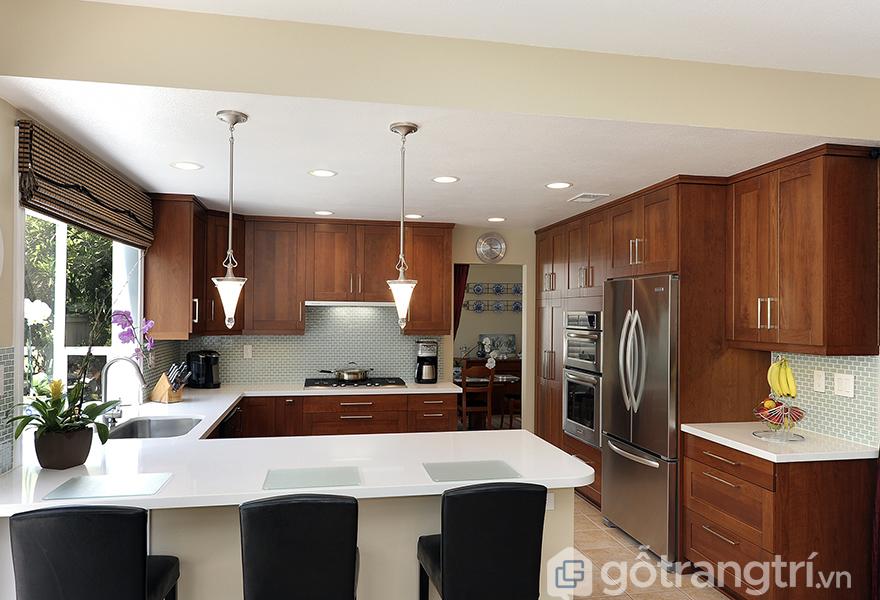 Không gian nấu nướng tiện nghi và mang tính thẩm mỹ cao