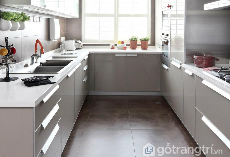 Căn bếp có tính đối xứng