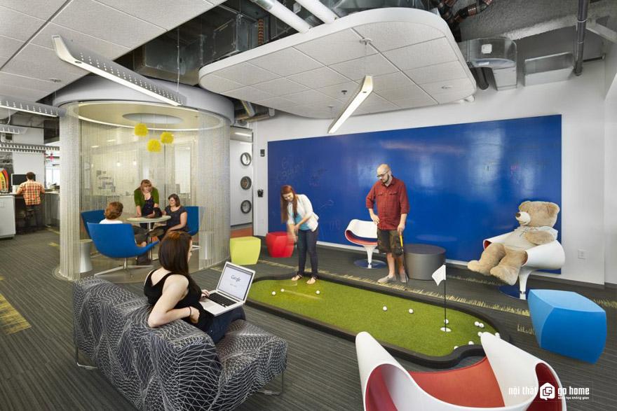 Thiết kế văn phòng dành riêng một không gian để thư giãn