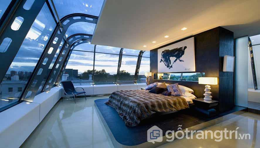 Thiết kế nội thất phòng ngủ phong cách thiên nhiên