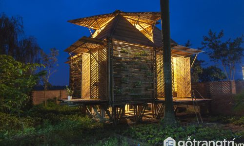 Chiêm ngưỡng ngôi nhà bằng Tre có tính ứng dụng cao ở Hà Nội