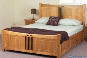các mẫu giường ngủ bằng gỗ đẹp