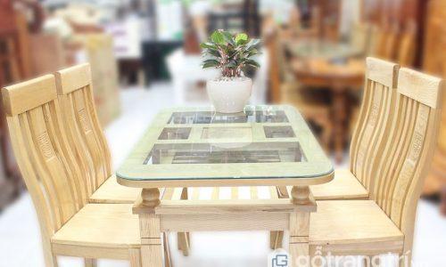 Ngắm nhìn bộ bàn ăn 4 ghế gỗ sồi đẹp sang trọng cho gia đình