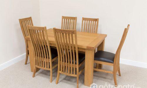 Những mẫu bàn ăn 6 ghế gỗ sồi được yêu thích hiện nay