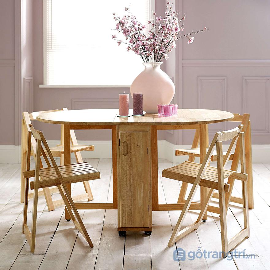Mẫu bàn ăn gấp đa năng tiết kiệm diện tích cho căn hộ