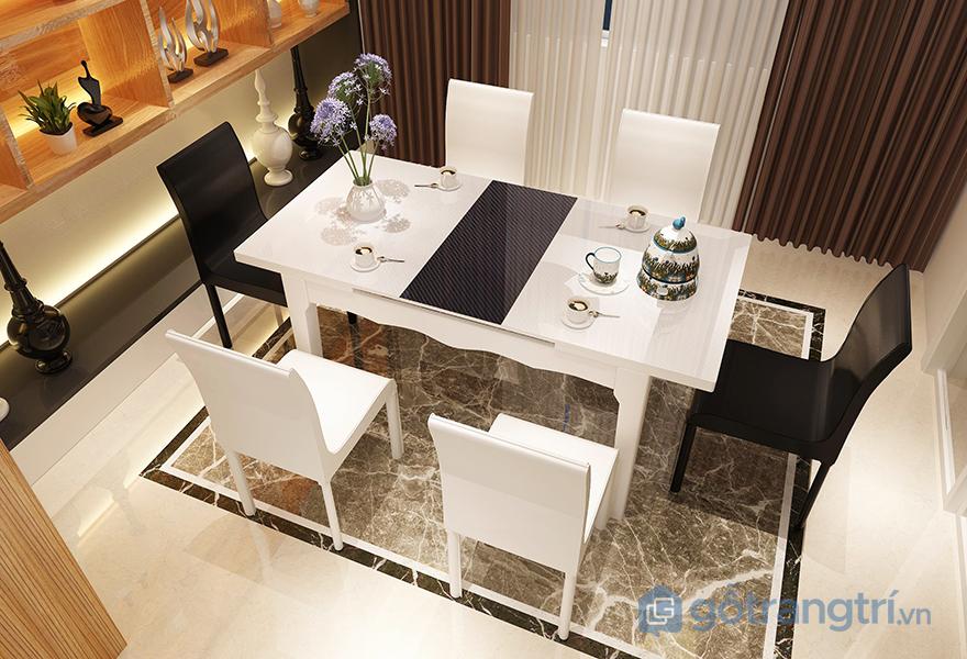 Thiết kế bàn ăn thông minh kéo dài mang đến sự tiện nghi cao