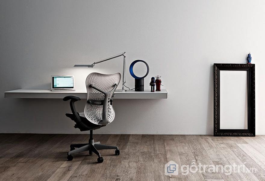 Thiết kế bàn làm việc phong cách tối giản trong căn hộ
