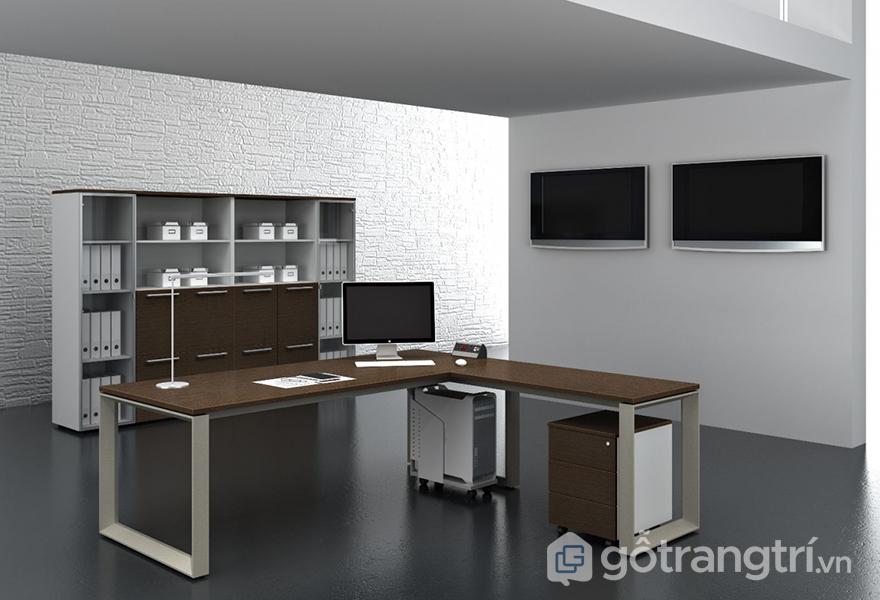 Thiết kế bàn làm việc phong cách tối giản cho văn phòng