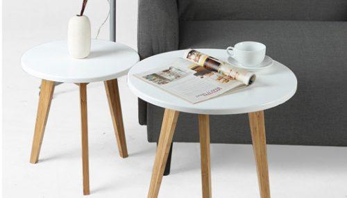 Những mẫu bàn trà gỗ tròn đẹp phong cách hiện đại nổi bật 2018