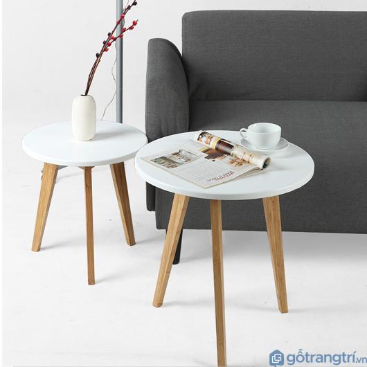 Mẫu bàn trà gỗ tròn được nhiều người lựa chọn