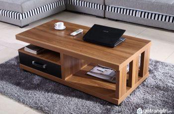 Bàn trà gỗ tự nhiên – Sự chọn thông minh cho phòng khách nhỏ