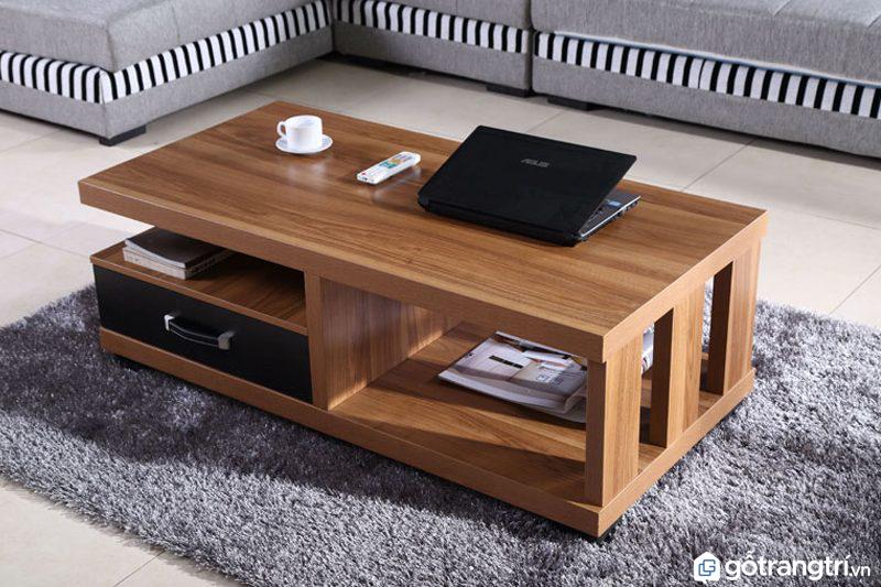 Mẫu bàn trà gỗ tự nhiên kiểu dáng đơn giản