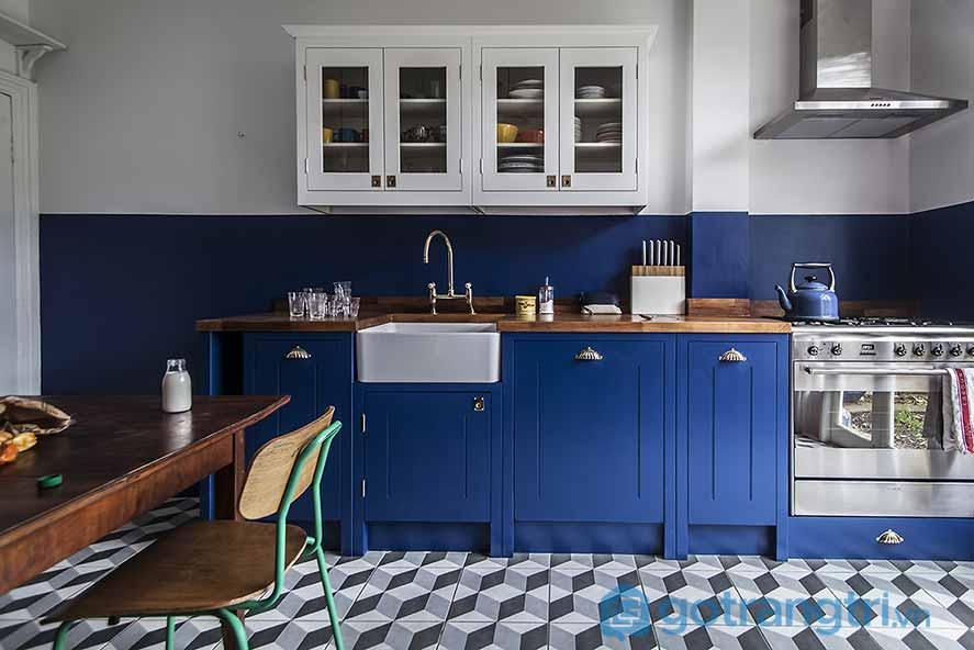 Nội thất thiết kế phòng bếp phong cách Retro