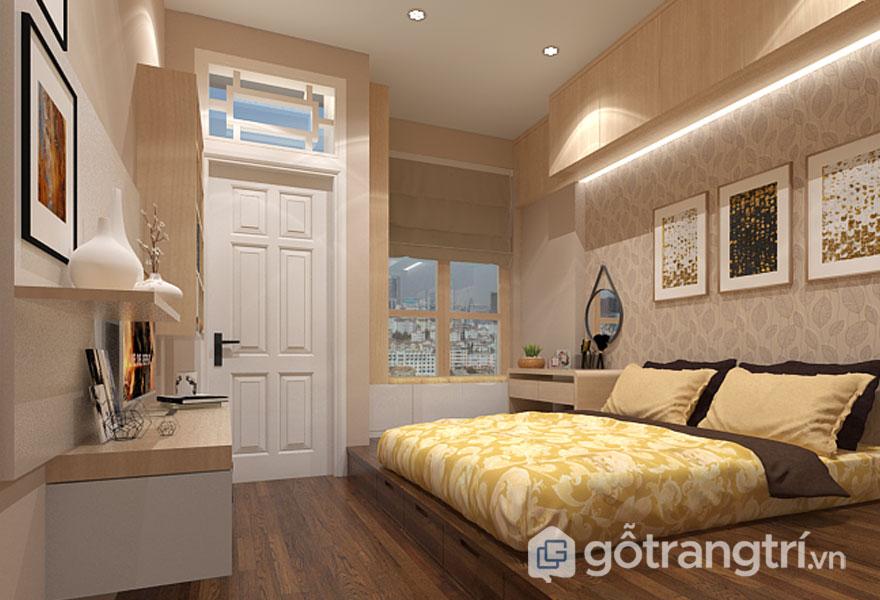 Cách trang trí phòng ngủ không có giường đẹp