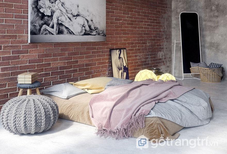 Cách trang trí phòng ngủ không có giường tiện nghi