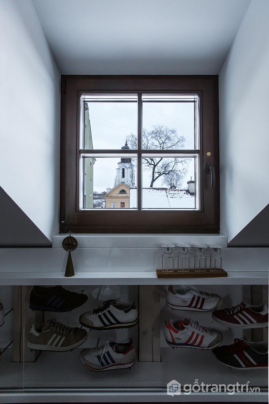 Gia chủ là người thích sưu tập giày