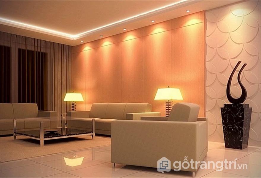 Sử dụng đèn LED chiếu sáng trong phòng khách