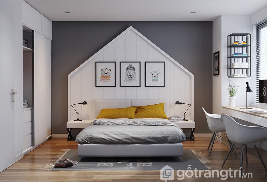 Phòng ngủ nên sử dụng màu neon để điểm xuyết