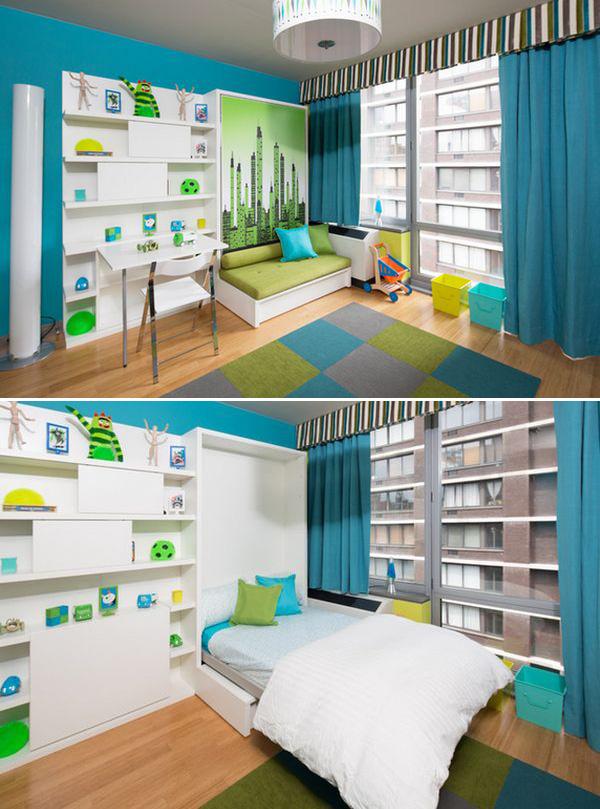 Giường ngủ âm tường với thiết kế sáng tạo